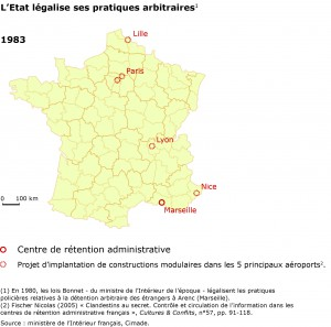 Détention administrative en France en 1983.