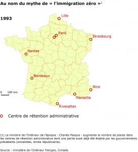 Détention administrative en France en 1993.
